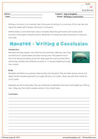 Writing a Conclusion - Manatee