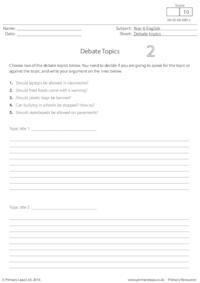 Debate Topics 2