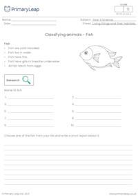 Classifying animals - Fish