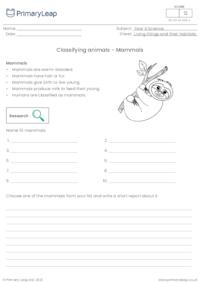 Classifying animals - Mammals