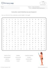Evolution and inheritance word search