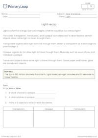 Light recap