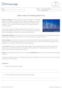 Other ways of creating electricity