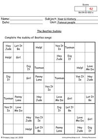 The Beatles Sudoku