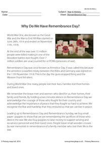 Why Do We Have Remembrance Day?