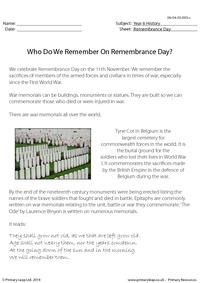 Who Do We Remember On Remembrance Day?