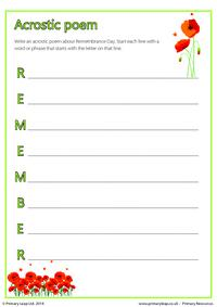 Acrostic Poem - Remember