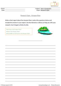 Research topic - Amazon River