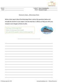 Research topic - Mississippi River