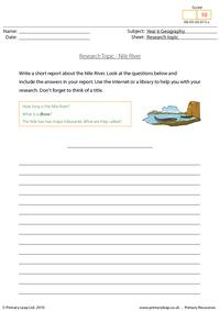 Research topic - Nile River