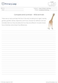 Compare and contrast - Wild animals