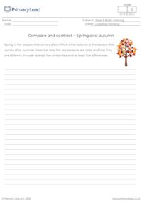 Compare and contrast - Spring and autumn