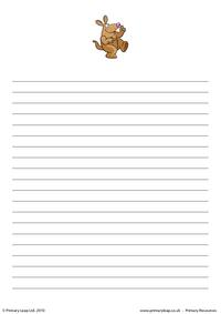 Aardvark writing paper