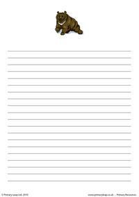 Bear writing paper 1