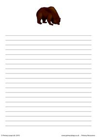 Bear writing paper 2