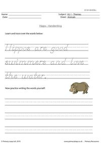 Hippo handwriting
