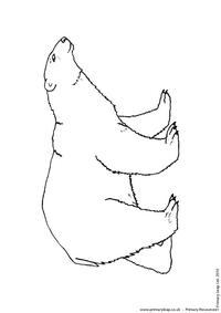 Polar bear colouring page 1