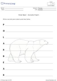 Polar bear acrostic poem