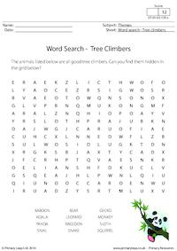 Word Search - Tree Climbers