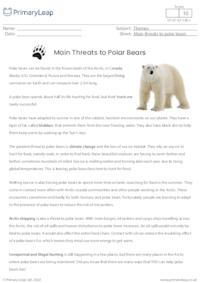 Comprehension - Main Threats to Polar Bears