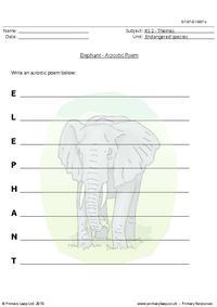 Elephant acrostic poem