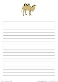 Bactrian camel writing paper 1