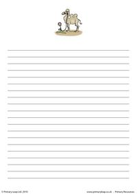 Bactrian camel writing paper 2