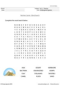 Bactrian camel word search