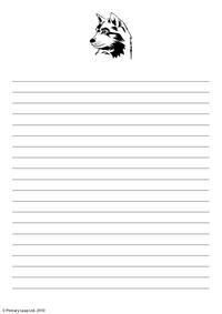 Writing paper - wolf