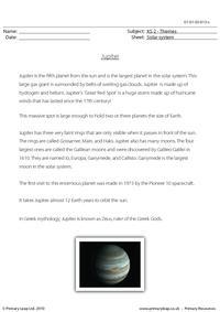Jupiter comprehension