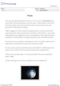 Pluto comprehension