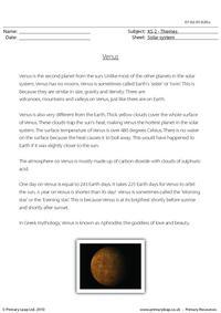 Venus comprehension