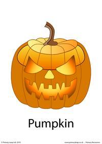 Halloween flashcard - pumpkin