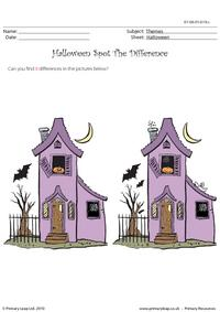 Halloween spot the difference