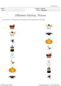 Halloween matching pictures