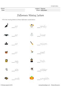 Halloween missing letters