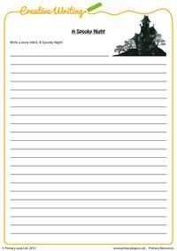 Creative writing - A Spooky Night