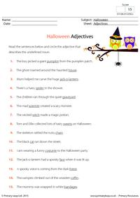 Halloween Adjectives