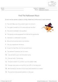 Find the Halloween Noun