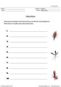 Safety rules - fireworks