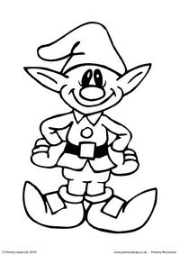 Colouring picture - Elf