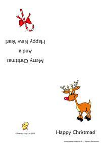 Christmas card -  Rudolph