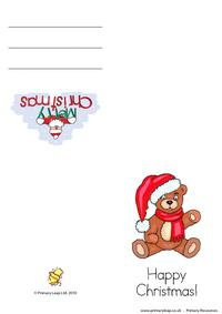 Christmas card -  Teddy bear