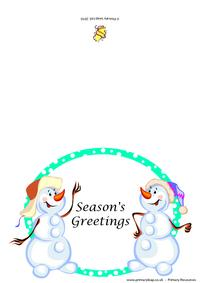 Christmas card -  Season's greetings
