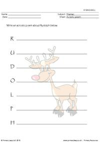 Acrostic poem - Rudolph