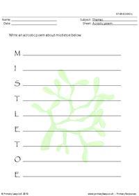Acrostic poem - Mistletoe