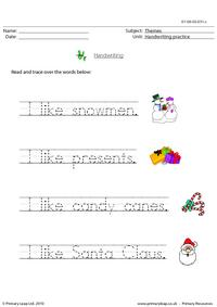 Christmas - handwriting 2