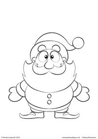 Colouring picture - Santa Claus 3
