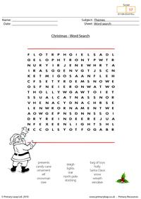 Christmas - word search