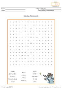 Christmas - word search nativity